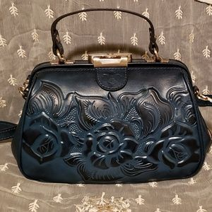 Patricia Nash Gracci Tooled Leather Frame Satchel